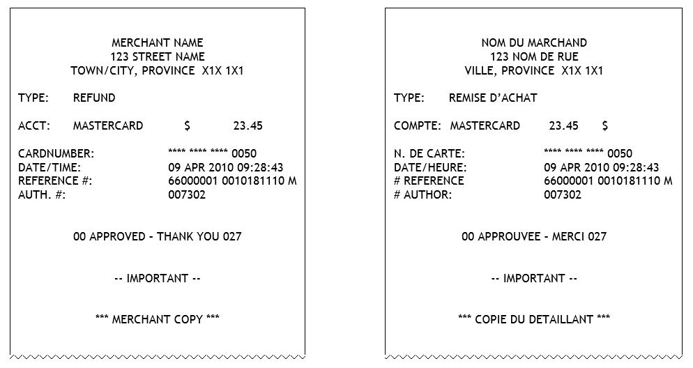 Receipt requirements moneris developers credit refund reheart Images