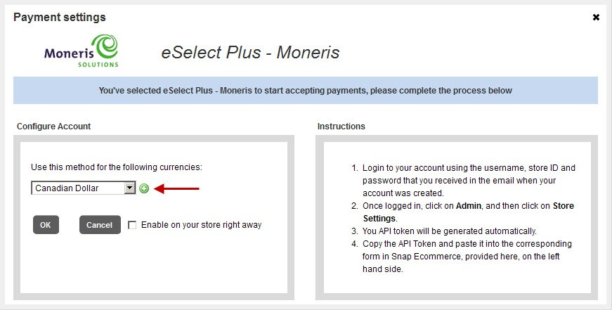 Payment Settings page 1