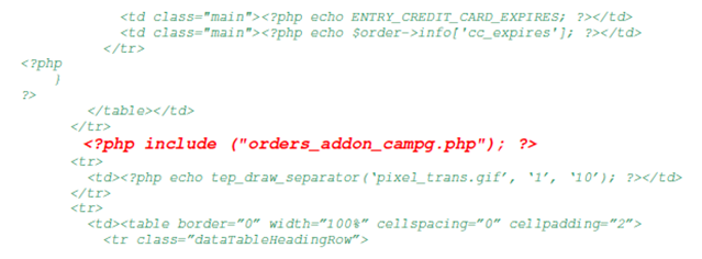 PHP Code Snippet